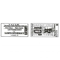 CTP123D Ticket Duo Rubber Stamps