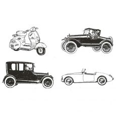 CTP126E On The Road Again cube Rubber Stamps