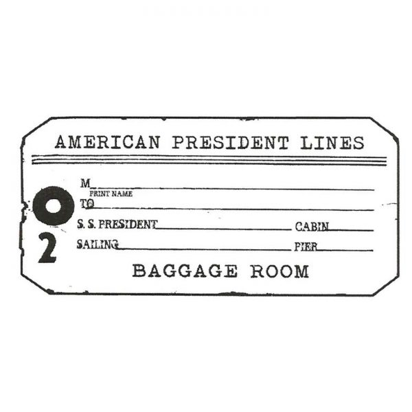 CTP134E Baggage Room Tag Rubber Stamp