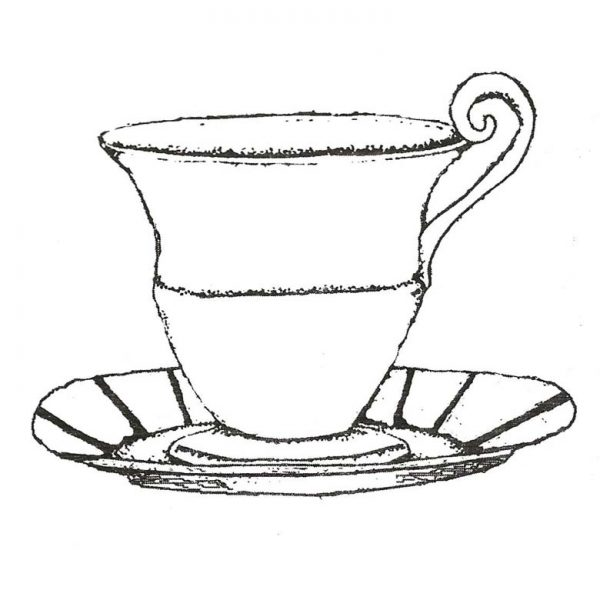 CUK115E Tea Cup Rubber Stamp