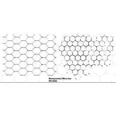FF135G Honeycomb Wire duo Rubber Stamps