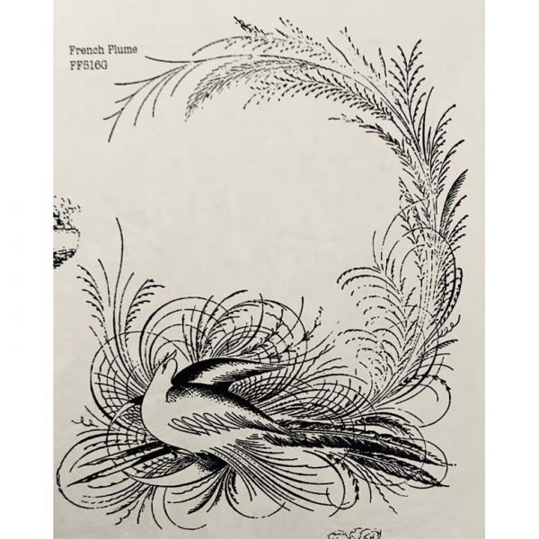 FF516G French Plume Rubber Stamp