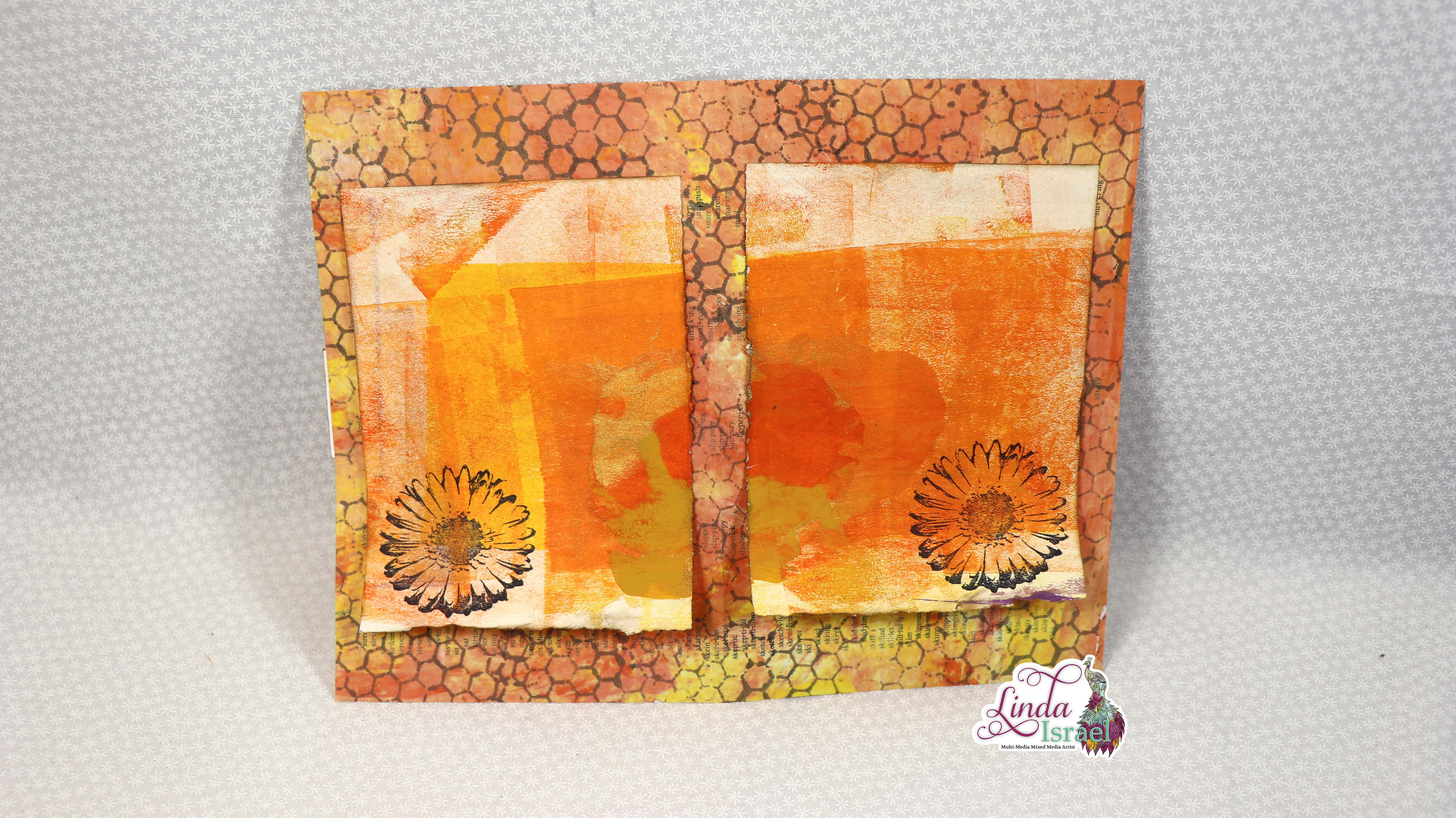 HoneyComb and Summer Flowers Junk Journal Page Tutorial