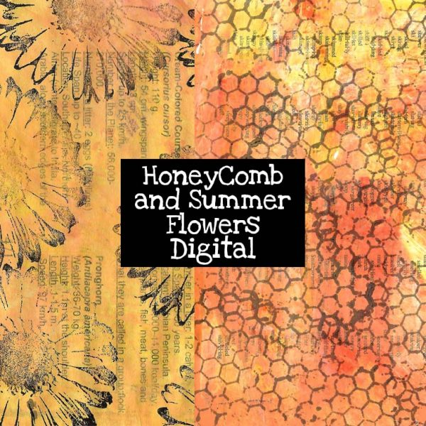HoneyComb and Summer Flowers Digital Download