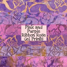 Pink and Purple Ribbon Rose Gel Prints