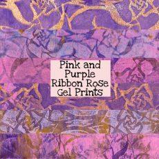 Pink and Purple Ribbon Rose Gel Prints