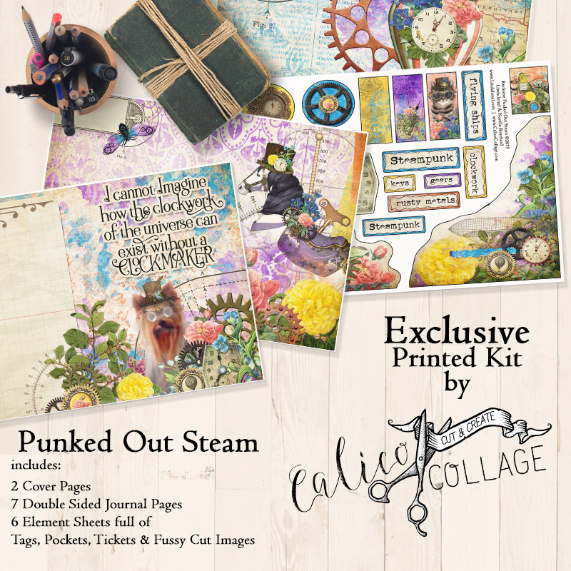 Exclusive Punked Out Steam Printed Journal Kit