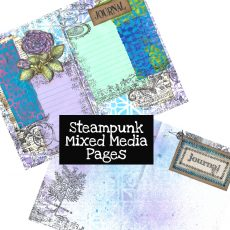 Steampunk Mixed Media Pages Digital Download