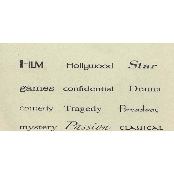 TS220C Movie Star Finger Prints Rubber Stamps