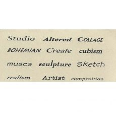 TS221C Artsy Finer Prints Rubber Stamps