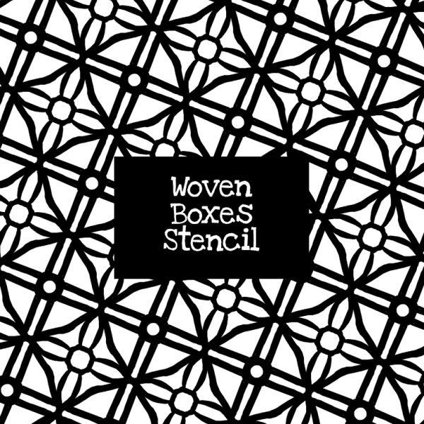 Woven Boxes Stencil