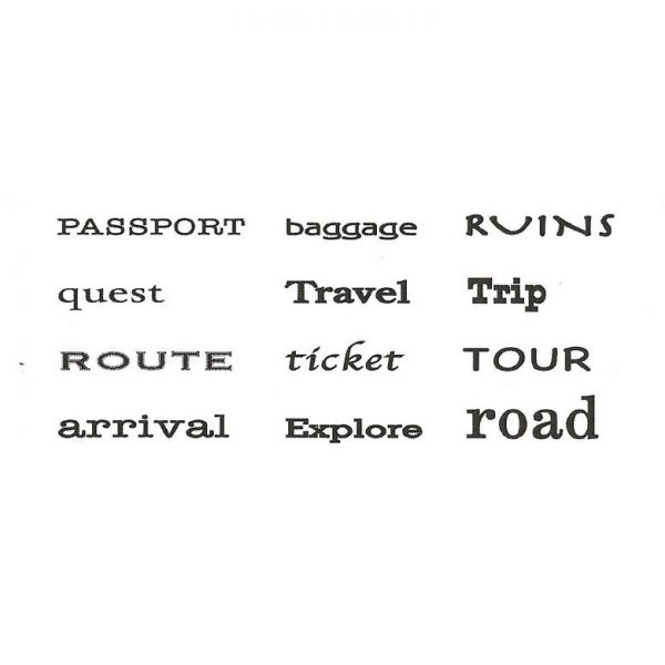 ZTP218C Traveler Finger Prints Rubber Stamps