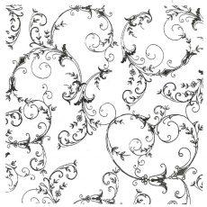 CFF412K Spiraling Leaves bkg Rubber Stamp