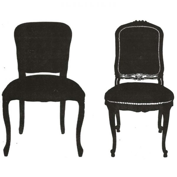 CHC214F Chair Silhouette Duo Rubber Stamps