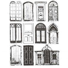 CSE500G Doors of the World Rubber Stamp