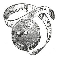CTM129D London Measures Rubber Stamp