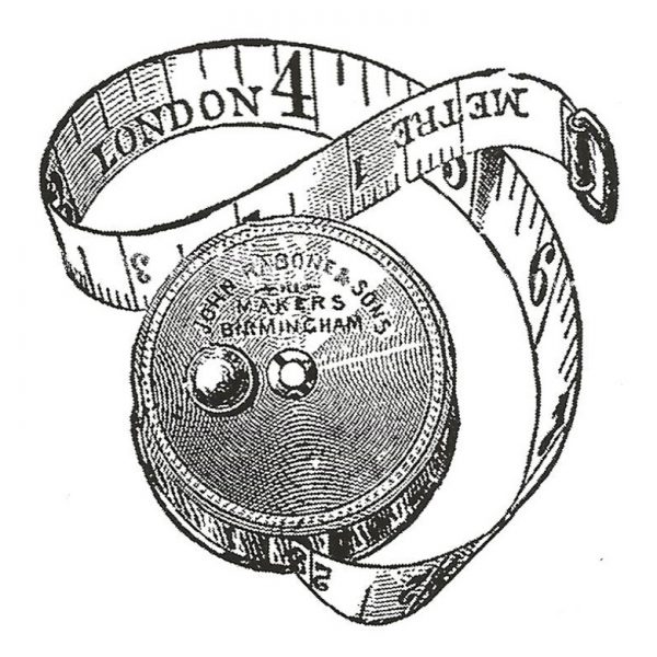 CTM129D London Measures Rubber Stamp
