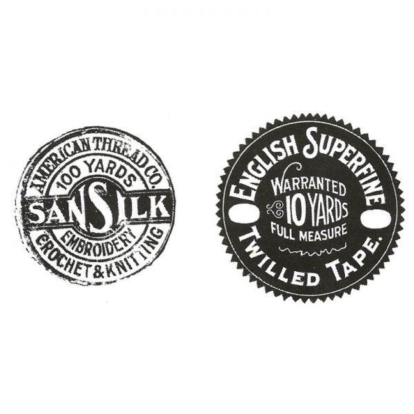 CTM213E Sansilk Duo Rubber Stamps