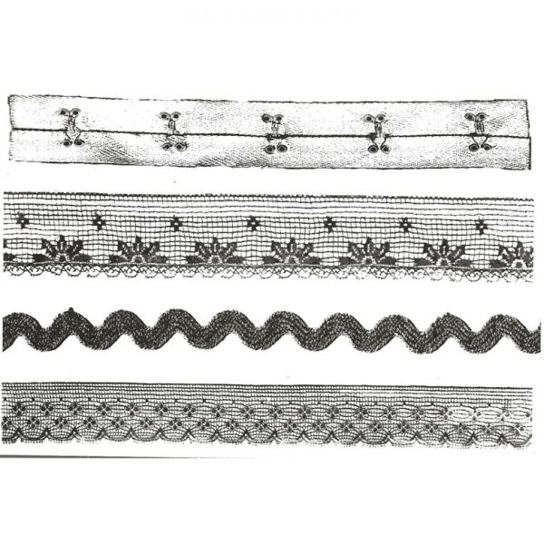 CTM216G Lace and Trim qt Rubber Stamps