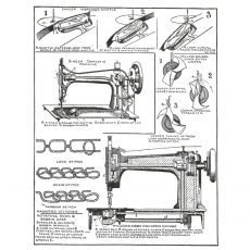 CTM301F Singer Diagram Rubber Stamp