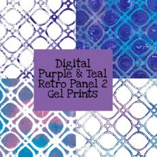 Purple & Teal Retro Panel 2 Gel Print Digital Download