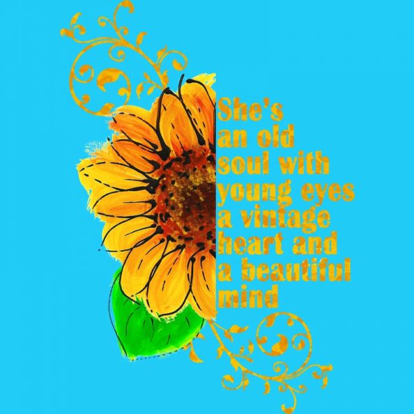 She's an Old Soul Sunflower T-Shirt