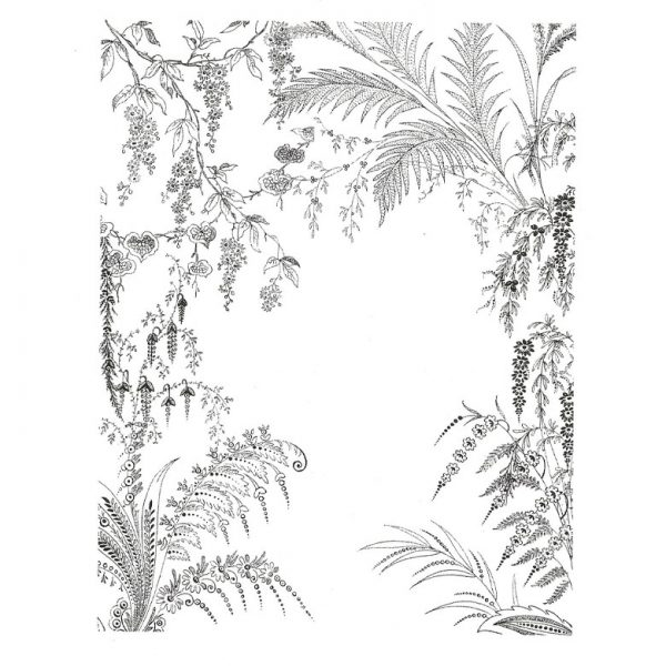 CFF520G Tropical Garden Rubber Stamp
