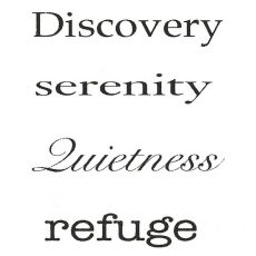 CNA124D Serenity Rubber Stamps