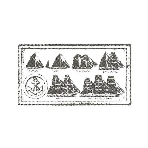 CNA125C Ship Chart Rubber Stamp
