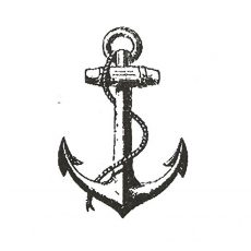CNA201D Anchor lg Rubber Stamp
