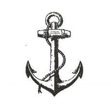 CNA201D Anchor lg Rubber Stamp