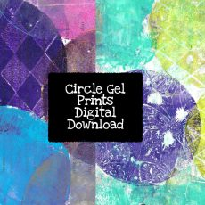 Circle Gel Prints Digital Download