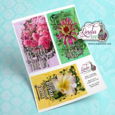 Digital Mixed Media Flower Journal Cards 3