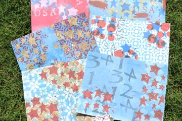 Patriotic Mixed Media Pages Tutorial