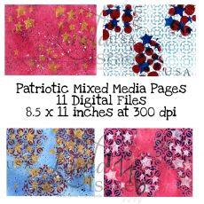 Digital Download Patriotic Mixed Media Pages
