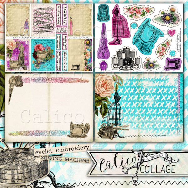 Virtual Subscription Sew Artsy Digital Journal Kit