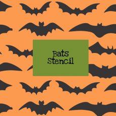 Bats Stencil