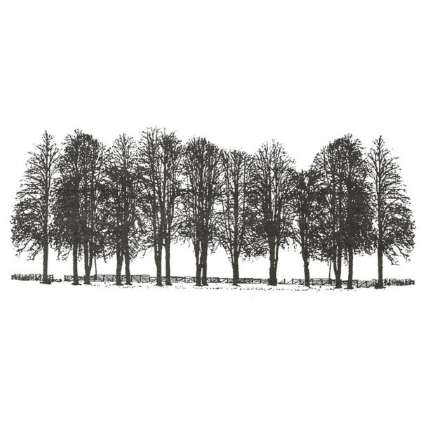 CFF624F Tree Line Rubber Stamp