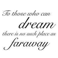 CTP132E Dream Faraway Rubber Stamp