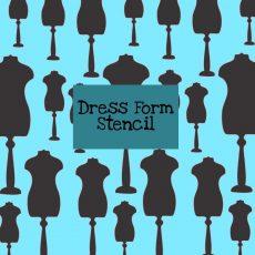 Dress Form Stencil