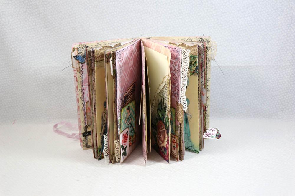 lip Through of Jane Austen Junk Journal