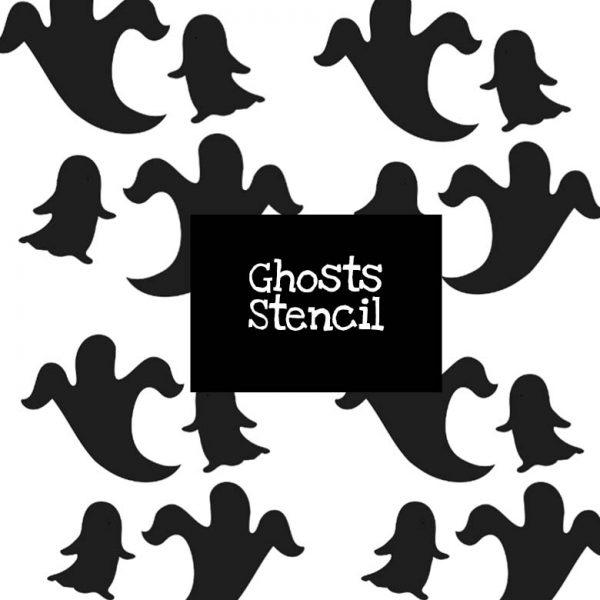 Ghosts Stencil