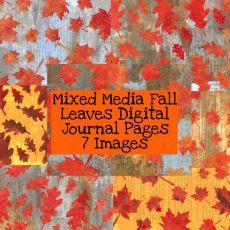 Mixed Media Fall Leaves Digital Journal Pages