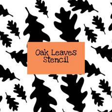 Oak Leaves Stencil