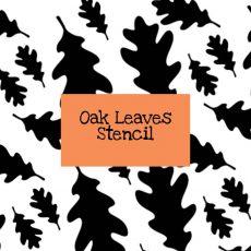 Oak Leaves Stencil