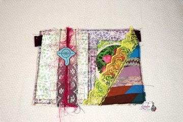 Scrapy Sewn Stamped Junk Journal Page Tutorial