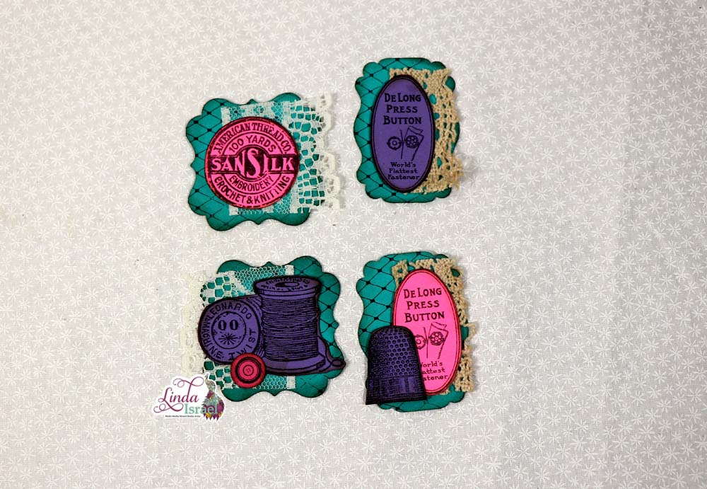 Sewing Themed Stamped Embellishment Tutorial