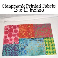 Steampunk Printed Fabric