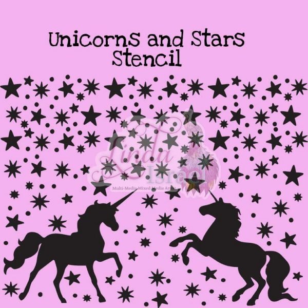 Unicorns and Stars Stencil