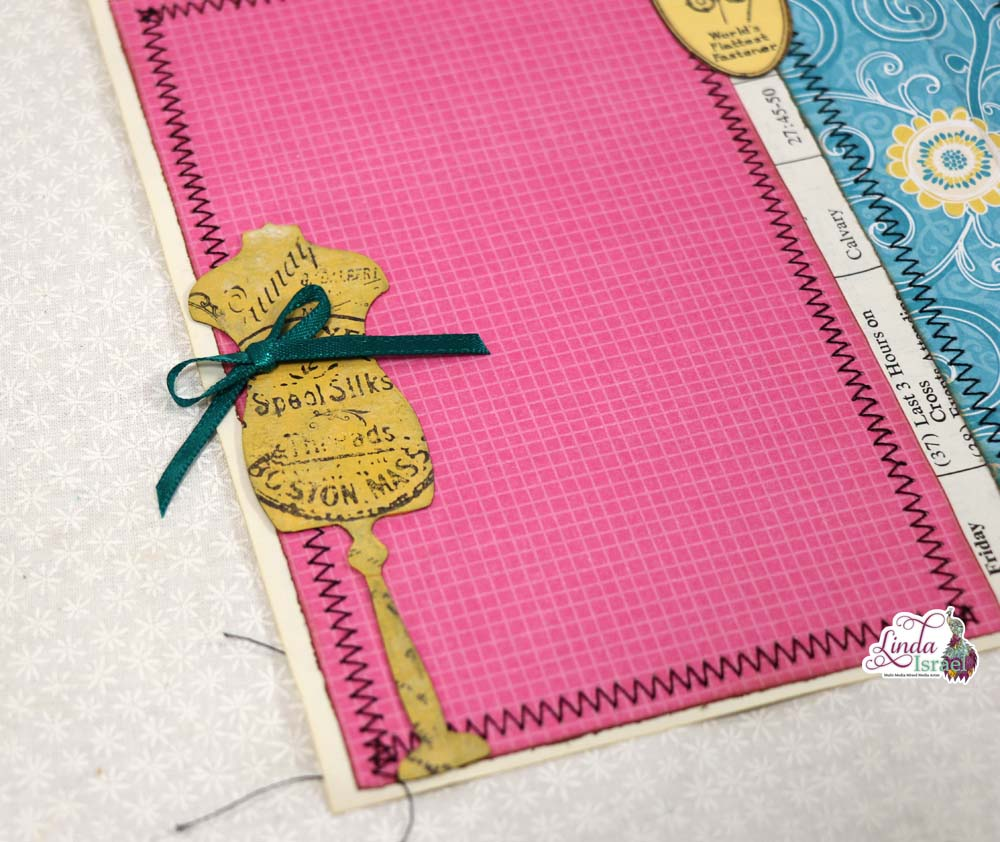 Using Scrapbook Papers for a Junk Journal Page